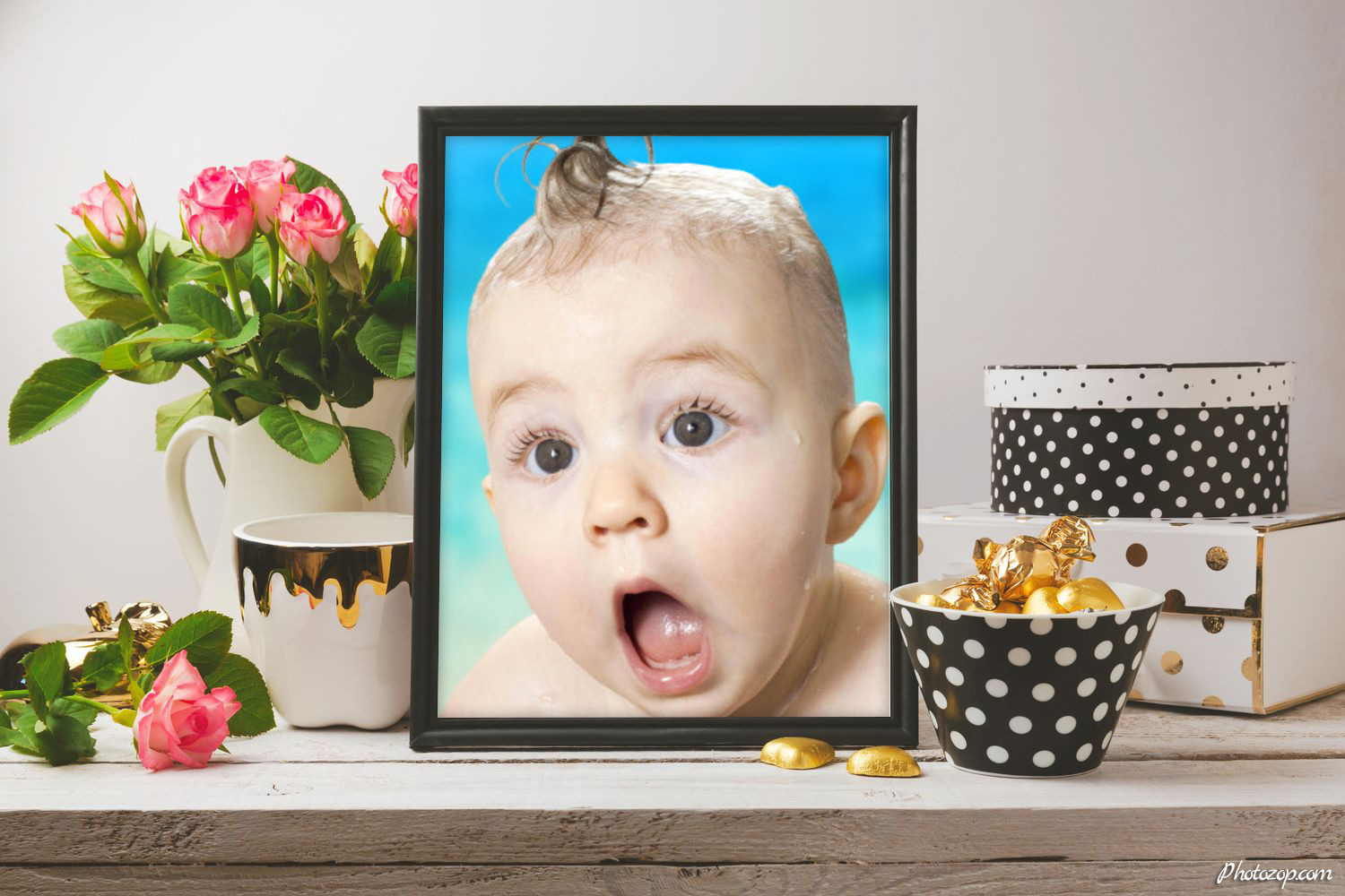 Poster mock up with glamour objects Funny Photo Montage
