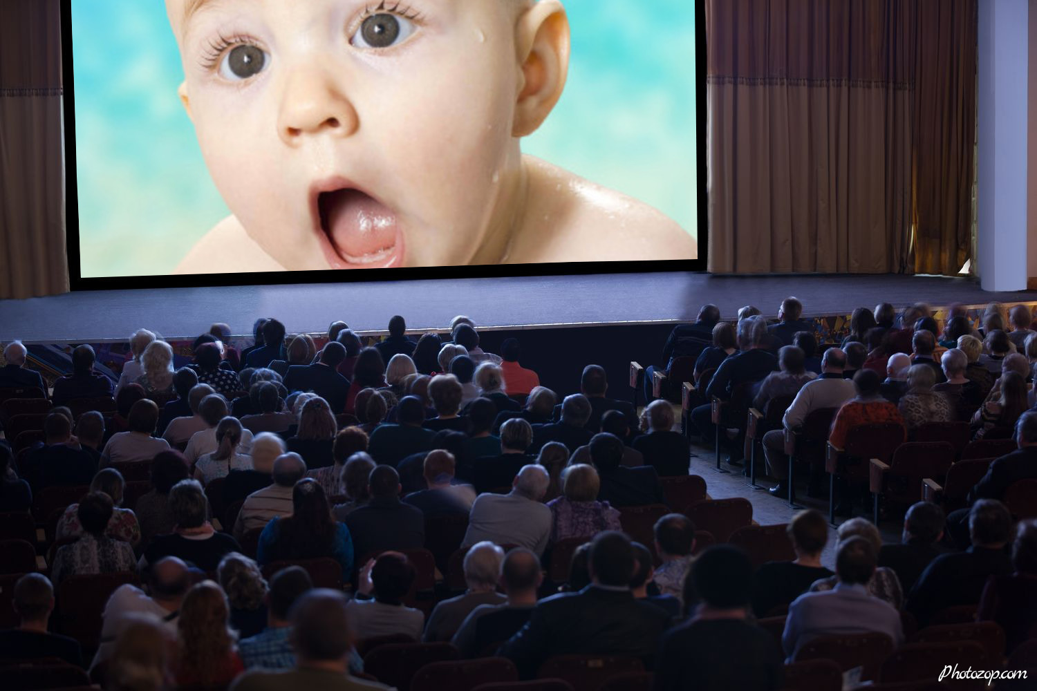 Audience watching cinema Funny Photo Montage