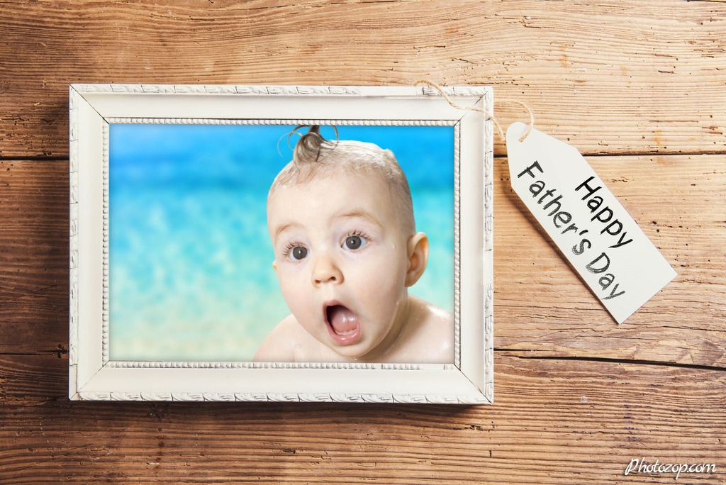 Create Funny Photo Montage Father's day in picture frame